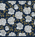 seamless pattern made hand drawn light roses on vector image