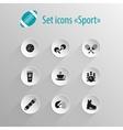 set flat black icon sport vector image