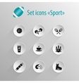 Set of flat black icon sport vector image vector image
