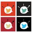 set of tweet bird logotwitter icon buttonflat vector image vector image