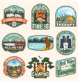 set outdoor adventure quotes patches vector image vector image