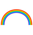 simple 7-color rainbow element on white vector image vector image