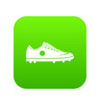 soccer shoe icon digital green vector image vector image