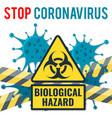 stop 2019-ncov coronavirus concept vector image vector image