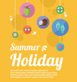 summer beach party holiday poster vector image vector image