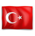 Turkish Flag vector image