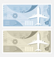 two kinds of airport banner vector image vector image