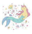 unicorn mermaid vector image vector image
