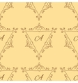 Vintage sketch seamless pattern with typography vector image vector image