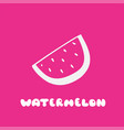 watermelon icon in trendy flat style hand drawn vector image