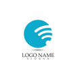 wifi logo template icons app vector image