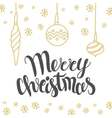Christmas card design with lettering Merry vector image