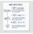 Startup concept design sketch vector image