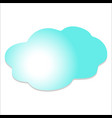 cloud in the sky vector image