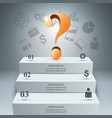 3d digital infographic question icon vector image