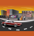 a ghetto with black people vector image vector image