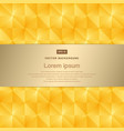abstract background modern luxury gold square vector image