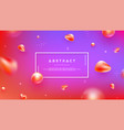 abstract background with red and purple color vector image