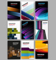 abstract geometric backgrounds set vector image vector image