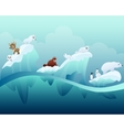Animals in the Arctic vector image