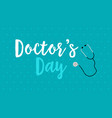 background style world doctor day card vector image vector image