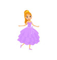 beautiful little princess in a lilac dress and vector image vector image