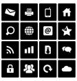 black internet icon set vector image vector image