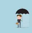businessman with rainyday under umbrella vector image vector image