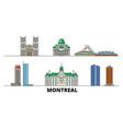 canada montreal flat landmarks vector image vector image