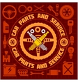 Car service icons and labels set vector image