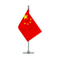 chinese flag hanging on the metallic pole vector image
