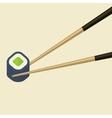 Chopsticks Holding Roll Frame Concept vector image vector image