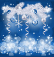 christmas background with fir tree vector image vector image