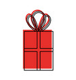 christmas gift box celebration decoration vector image vector image