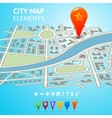 City map with navigation markers vector image vector image