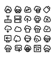 cloud computing icons 5 vector image