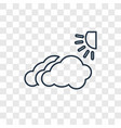 cloudy concept linear icon isolated on vector image
