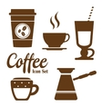 Coffee Icons with White Background vector image