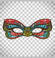 colored mask in butterfly colors vector image vector image
