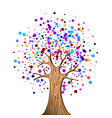 colorful tree concept for environment help vector image vector image