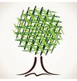 creative sketch green tree vector image vector image