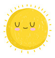 cute sun summer weather white background vector image vector image
