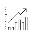 data report icon business statistic concept vector image vector image