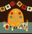 day dead mexican sugar skull spanish card vector image vector image