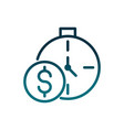 economy business money coin time clock gradient vector image vector image