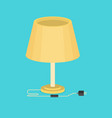 flat table lamp icon vector image