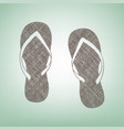 flip flop sign brown flax icon on green vector image