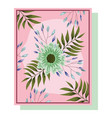 flowers floral arrangements flourish for greeting vector image