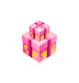 gift box isometric symbol design vector image vector image