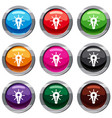 glowing light bulb set 9 collection vector image vector image